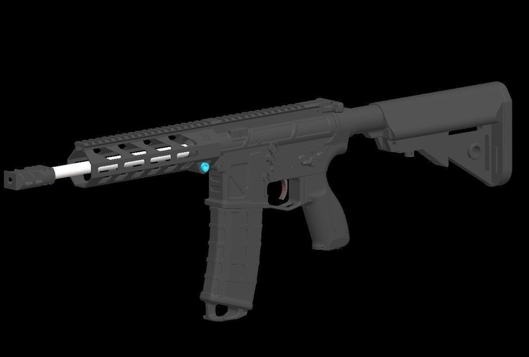 Printable Airsoft AR15 (PAAR15) AEG Body kit (08.12.19) 3D Print 257970