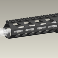 Small Airsoft M-lok handguard with delta ring 3D Printing 257973