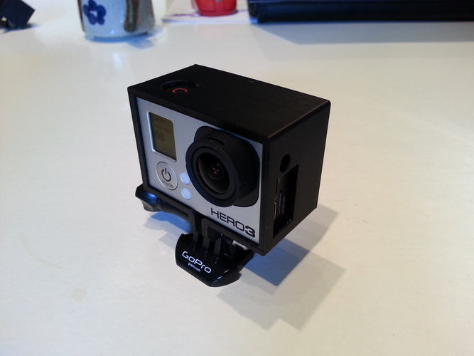 GoPro Hero 3 Frame For Back Pack 3D Print 25798