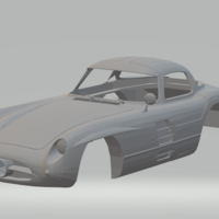 Small mercedes 300slr 3D Printing 258017