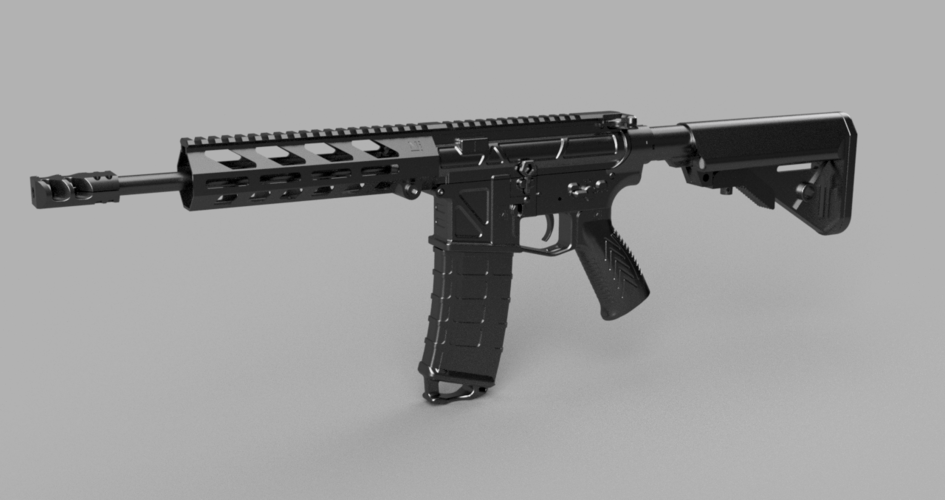 Printable Airsoft AR15 (PAAR15) AEG Body kit (08.12.19) 3D Print 258022
