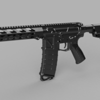 Small Printable Airsoft AR15 (PAAR15) AEG Body kit (08.12.19) 3D Printing 258022