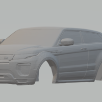 Small land rover range rover evoque 2doors 16 slot car 3D Printing 258033