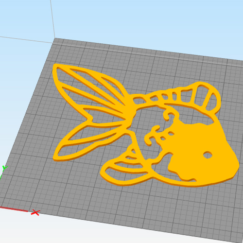 Fantail Goldfish wall decoration  3D Print 258082