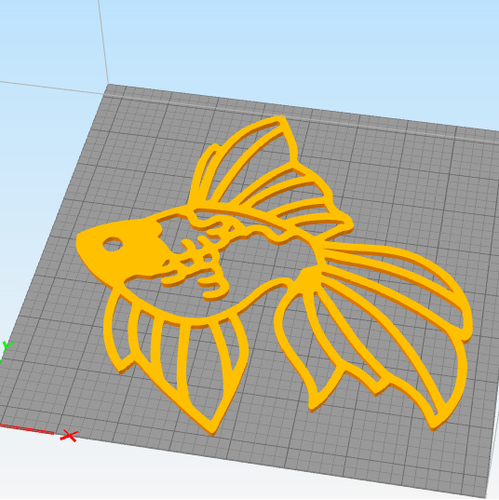Fantail Goldfish wall decoration  3D Print 258083
