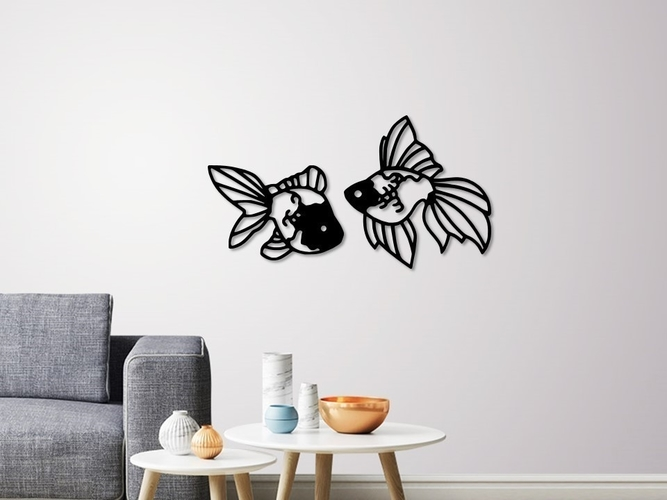 Fantail Goldfish wall decoration  3D Print 258084