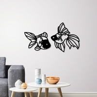 Small Fantail Goldfish wall decoration  3D Printing 258084