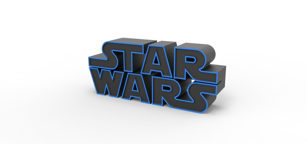 3D printable Star Wars logo 3D Print 258198