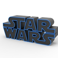 Small 3D printable Star Wars logo 3D Printing 258198