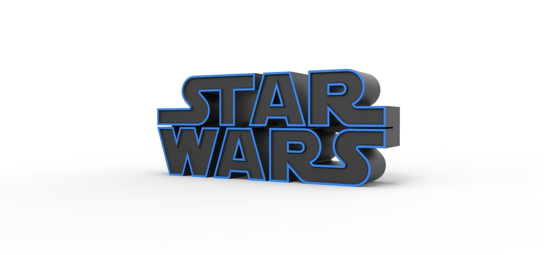 3D printable Star Wars logo 3D Print 258199