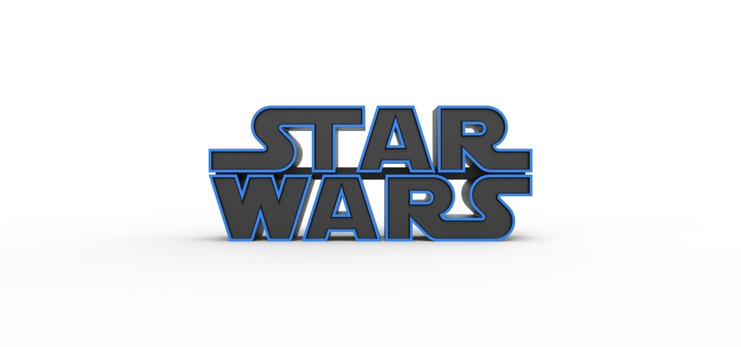 3D printable Star Wars logo 3D Print 258200