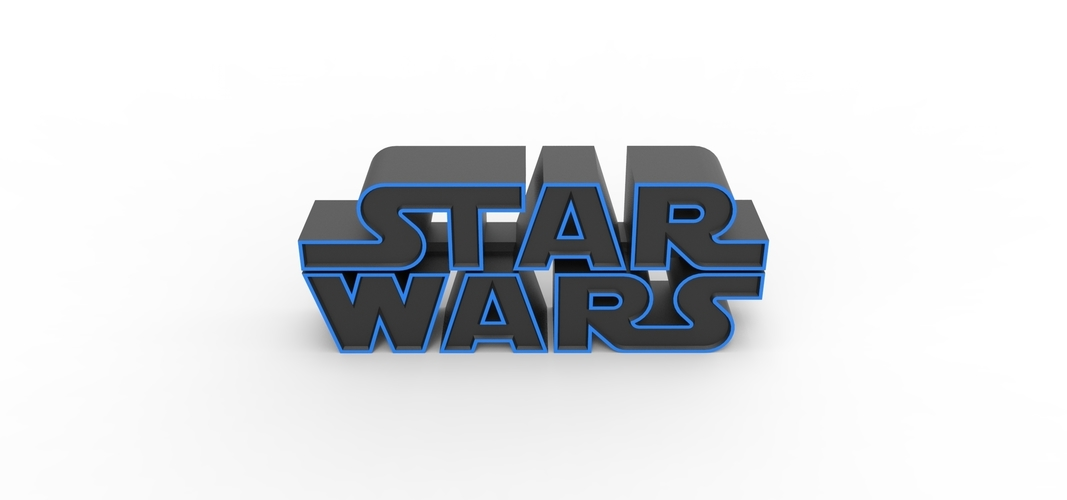 3D printable Star Wars logo 3D Print 258201