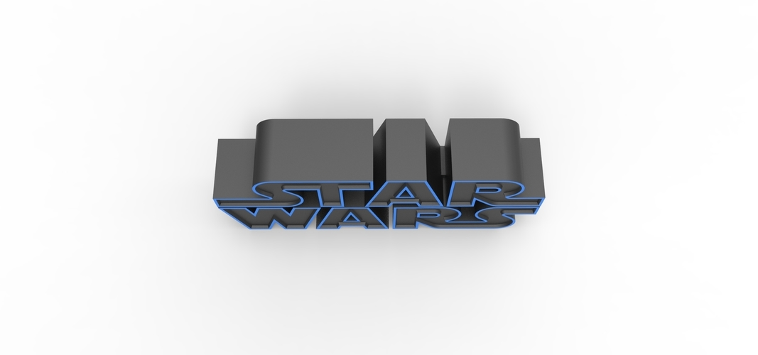 3D printable Star Wars logo 3D Print 258202