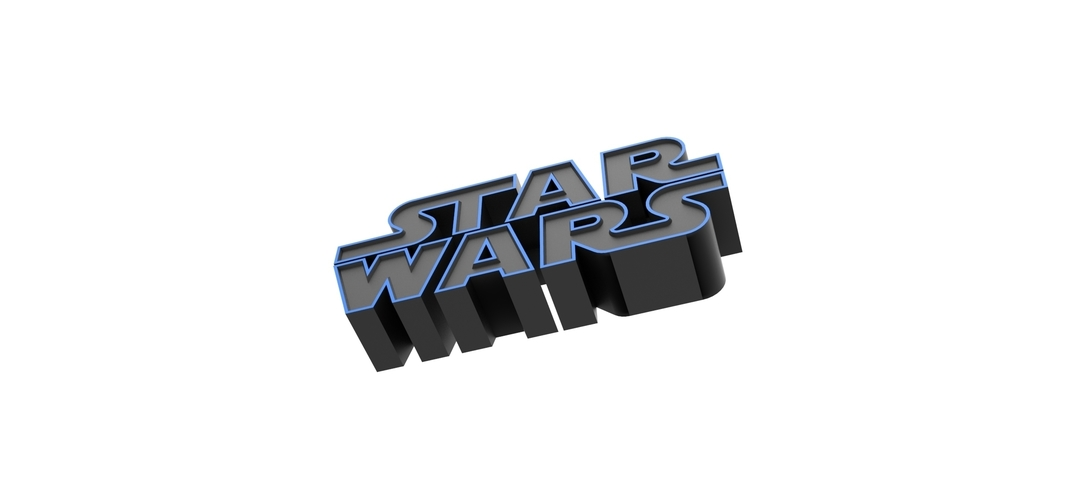 3D printable Star Wars logo 3D Print 258204