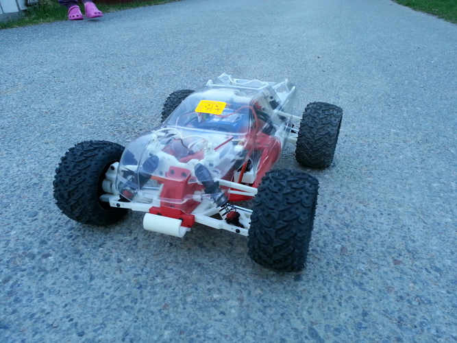 OpenRC 1:10 4WD Truggy Concept RC Car 3D Print 25822