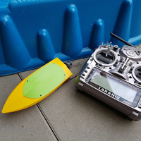 Small RC Mini Jet Boat 3D Printing 258243