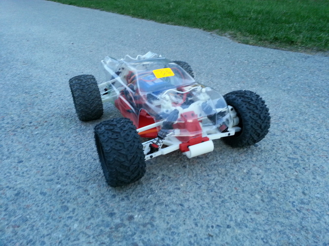 OpenRC 1:10 4WD Truggy Concept RC Car 3D Print 25825