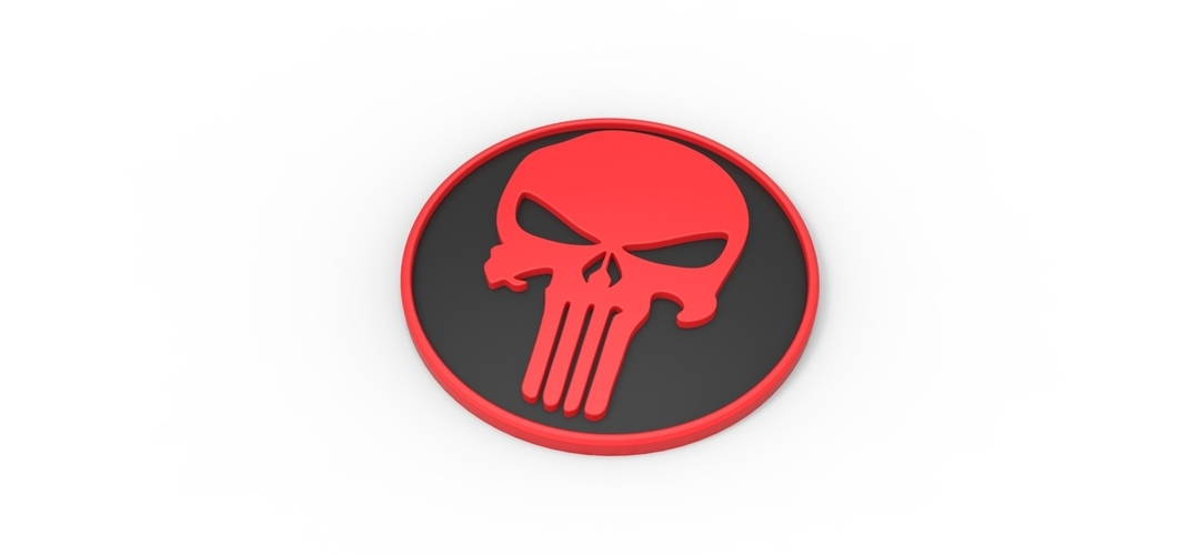 3D printable Punisher emblem 3D Print 258301