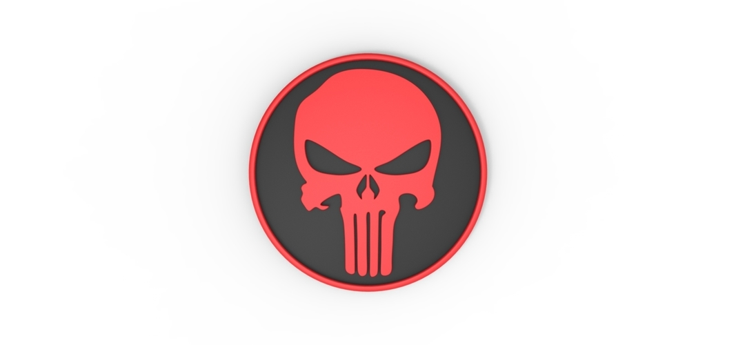 3D printable Punisher emblem 3D Print 258302
