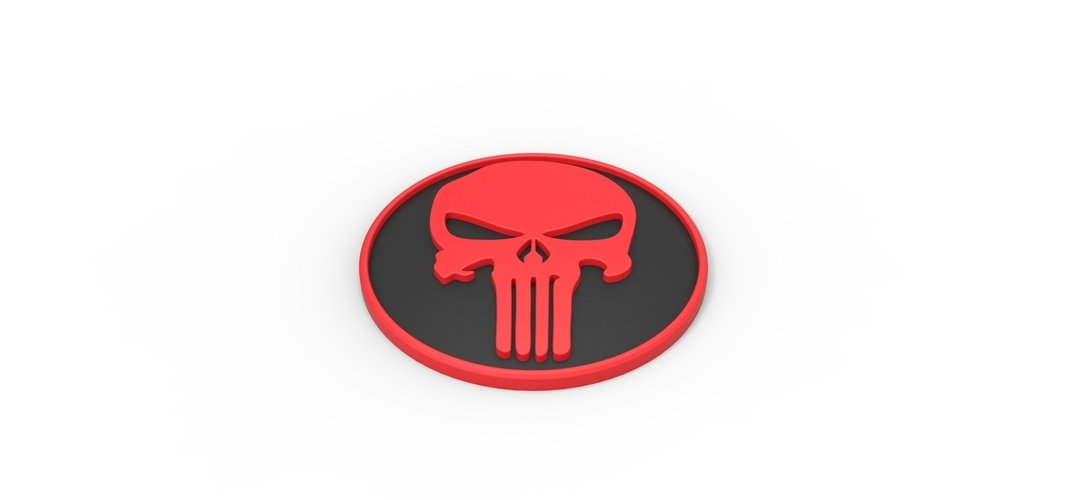 3D printable Punisher emblem 3D Print 258303
