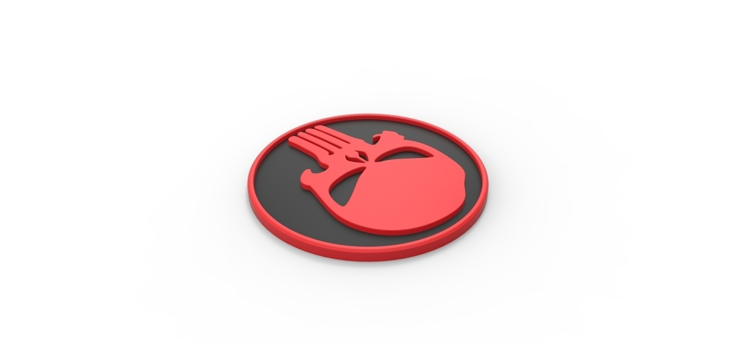 3D printable Punisher emblem 3D Print 258305