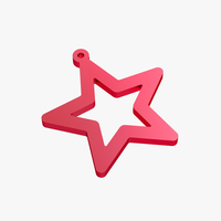 Small Earrings star 3D Printing 258306
