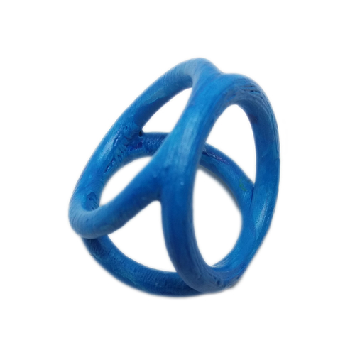 Scarf buckle triple ring with diameter 28mm 3D Print 258309