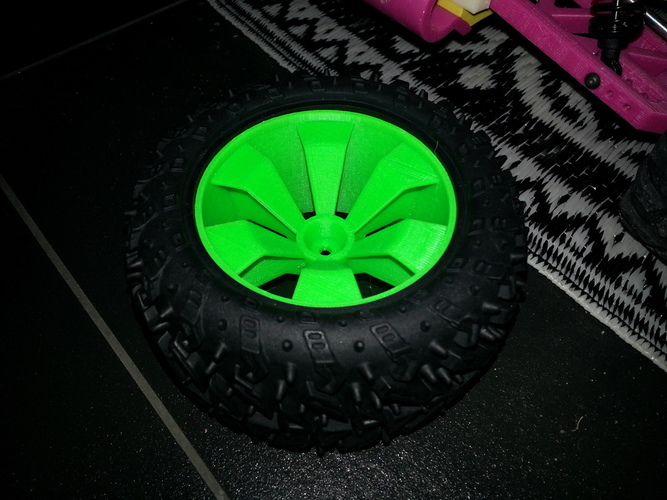 OpenRC 1:10 RC Truggy Rims 3D Print 25834