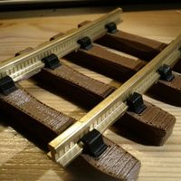 Small Model train sleepers (1:32, OpenRailway) 3D Printing 25836