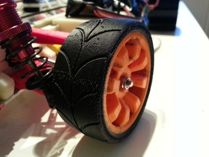 OpenRC 1:10 Experimental Wheel (Dualstrusion) 3D Print 25839