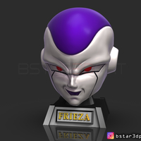 Small Frieza Head - frieza Mask - Dragon ball cosplay/Decor 3D Printing 258395