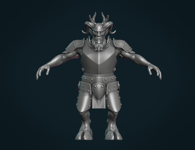 Demon figure II 3D Print 258451