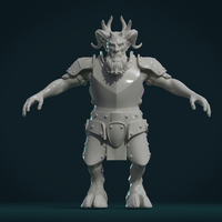 Small Demon figure II 3D Printing 258466