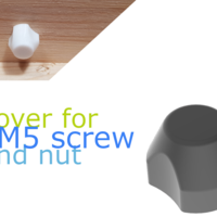 Small nut/screw-cover for M5 3D Printing 258496