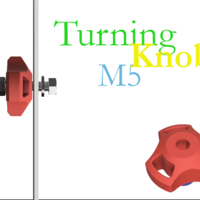 Small turning knob for m5 hex head 3D Printing 258501