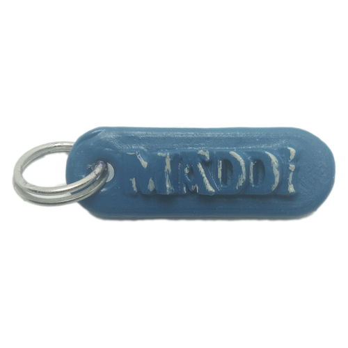 MADDI Personalized keychain embossed letters 3D Print 258533