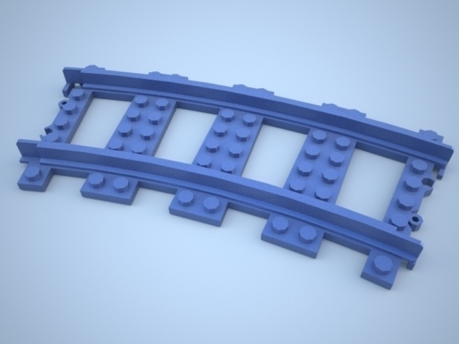 Lego Train Track, Curved 3D Print 25858