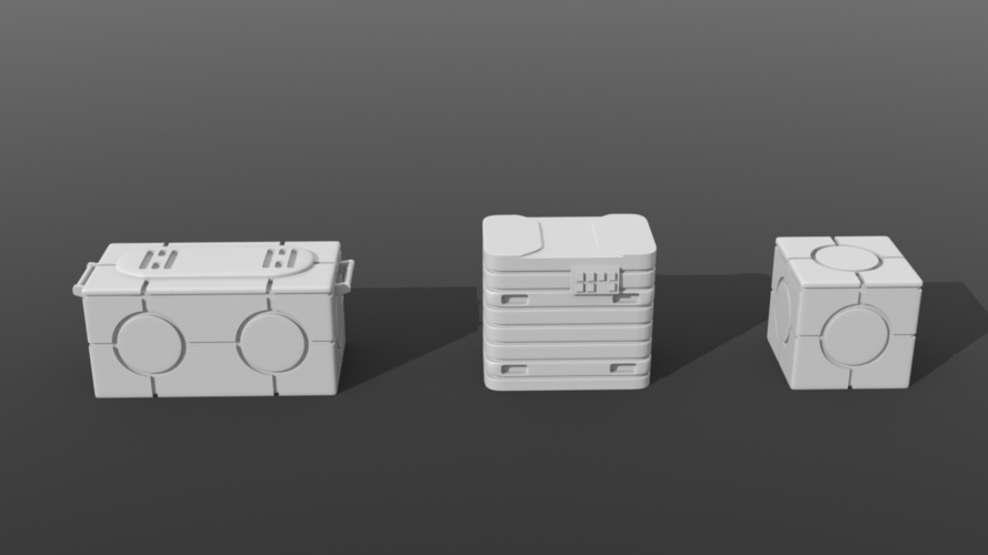 Legion scale boxes 3D Print 258605