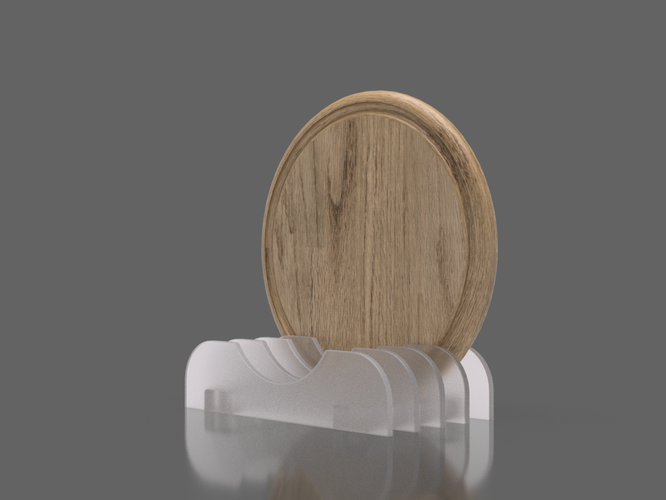 Holder for round wooden boards 3D Print 258634