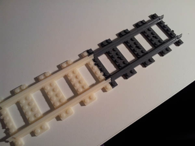 Lego Train Track, Straight 3D Print 25864