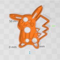 Small Pikachu cookies cutter 3D Printing 258641