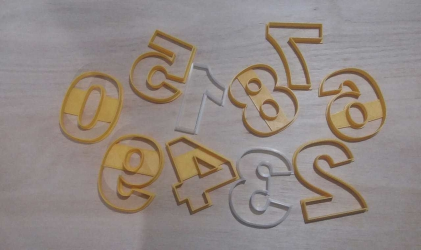 Numeros Arial Cookies Cutter 3D Print 258642