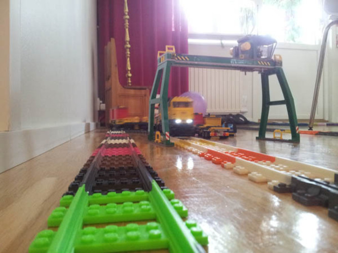 Lego Train Track, Straight 3D Print 25865