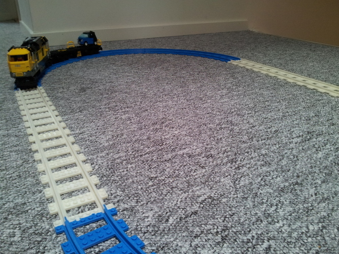 Lego Train Track, Straight 3D Print 25866