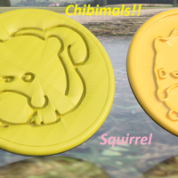 Small Squirrel chibimals coaster (pair) 3D Printing 258702