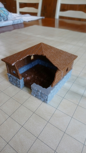 Burned Cottage / House 3D Print 258783