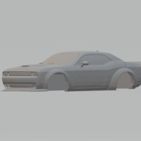Small dodge  challenger hellcat 3D Printing 258859