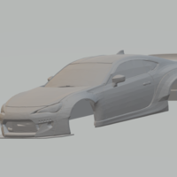 Small toyota 86 rocket bunny 3D Printing 258864