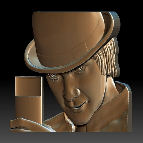 Portrait STL bas-relief Clockwork orange 3D Print 259193