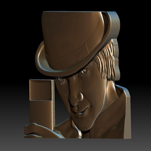 Portrait STL bas-relief Clockwork orange 3D Print 259194